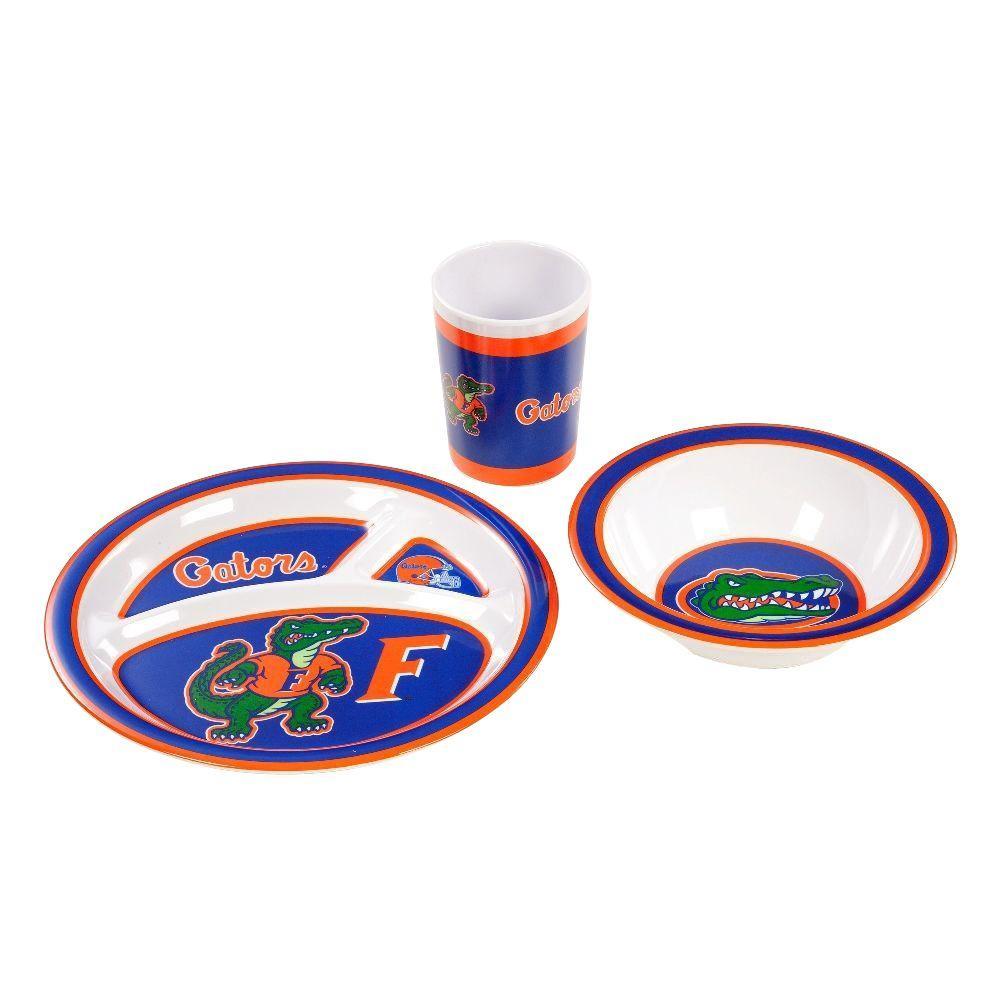 NCAA Florida Gators 3-Piece Kid's Dish Set
