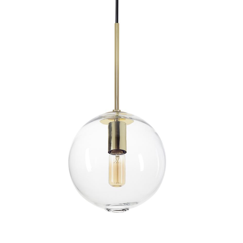 Casamotion Zurich 8 In. W X 17 In. H 1-Light Brass Hand