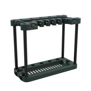 Stalwart 13.75 in. x 29 in. x 34 in. 2-Tier 40 Tool Rolling Garden Tool Storage Rack Tower-M220006 - The Home Depot
