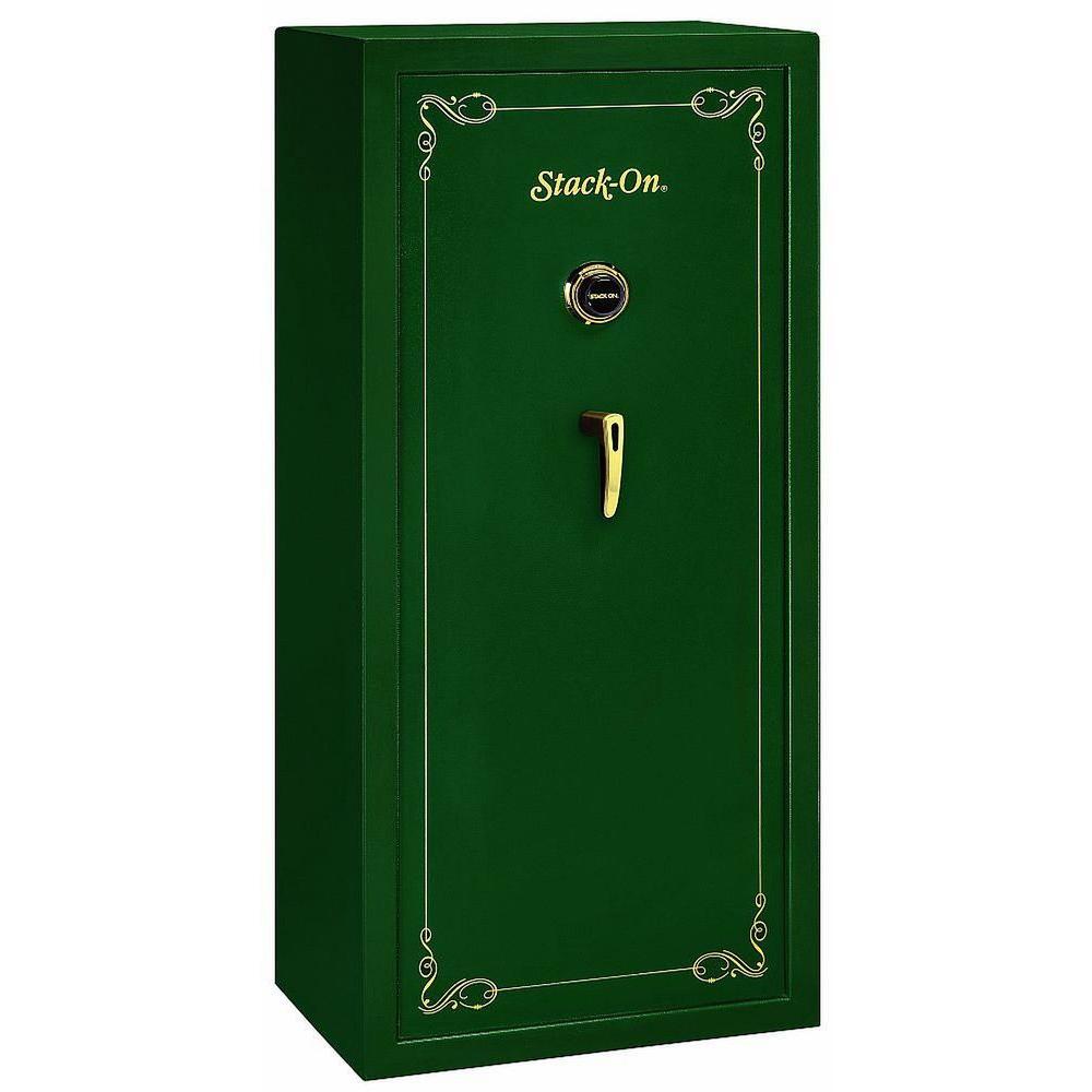 22 Gun Hunter Green Combination Lock Security Safe