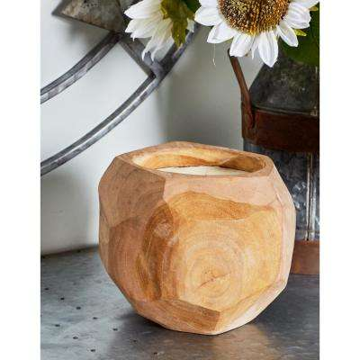 Brown Coconut-Shaped Wax Candle