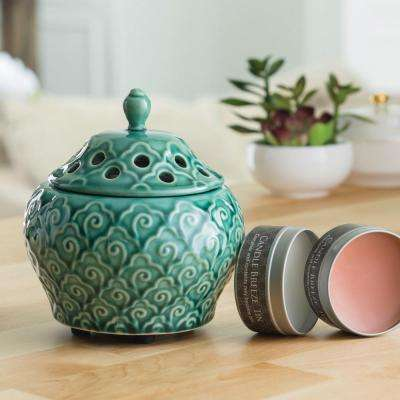 8.5 in Imperial Jade Candle Breeze with Candle Breeze Tin Bundle