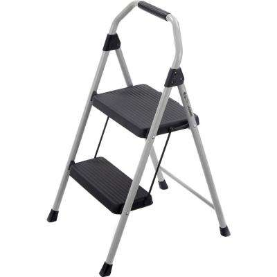 2-Step Compact Steel Step Stool with 225 lbs. Load Capacity Type II Duty Rating