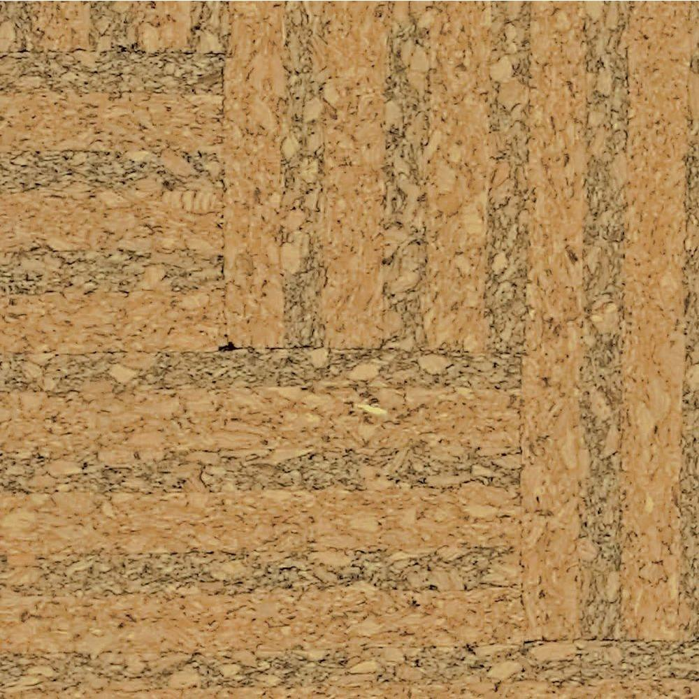 Home Legend Take Home Sample - Natural Herringbone Cork Flooring - 5 in. x 7 in.
