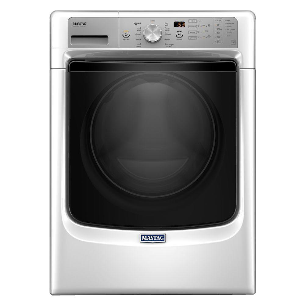 Maytag 4.5 cu. ft. High-Efficiency Stackable White Front ...
