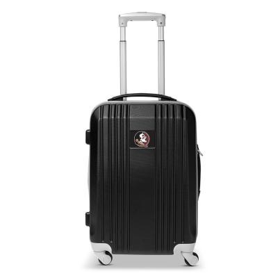 Denco NCAA Florida State 21 in. Black Hardcase 2-Tone Luggage Carry-On Spinner Suitcase