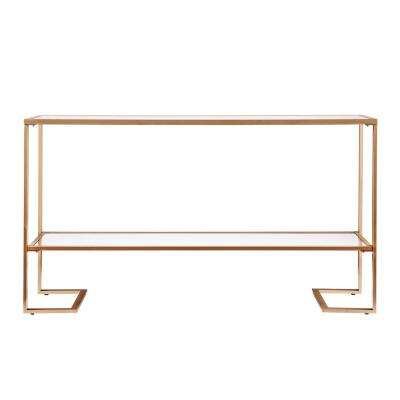 Metz Gold with Mirror Glam Narrow Console