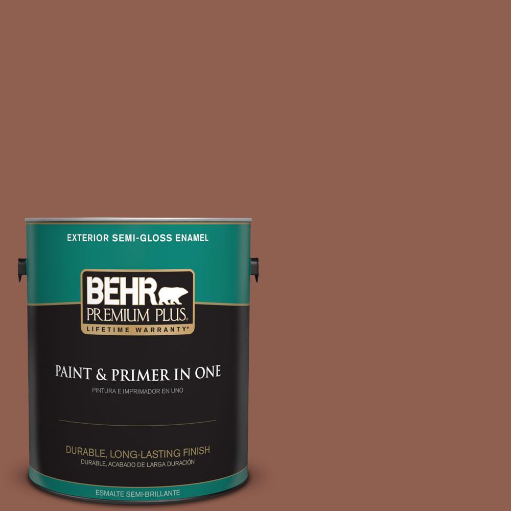 1-gal. #210F-7 Brown Thrush Semi-Gloss Enamel Exterior Paint