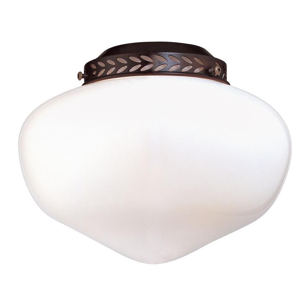 Satin 1-Light Ceiling Fan Light Kit