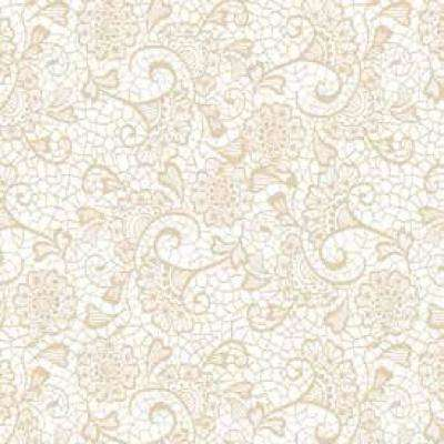 Creative Covering Monaco Sand Floral Adhesive Shelf and Drawer Liner