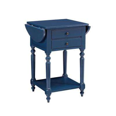 Shiloh Blue Table with Dropleaf