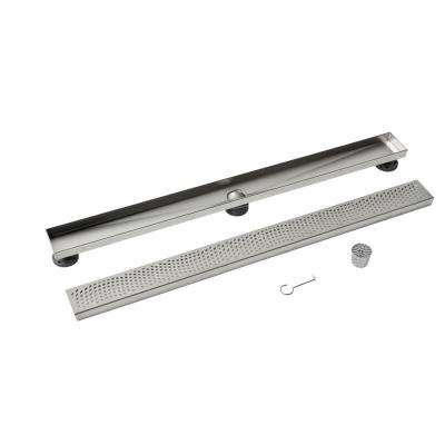 Designline 36 in. Stainless Steel Linear Drain Wave Grate