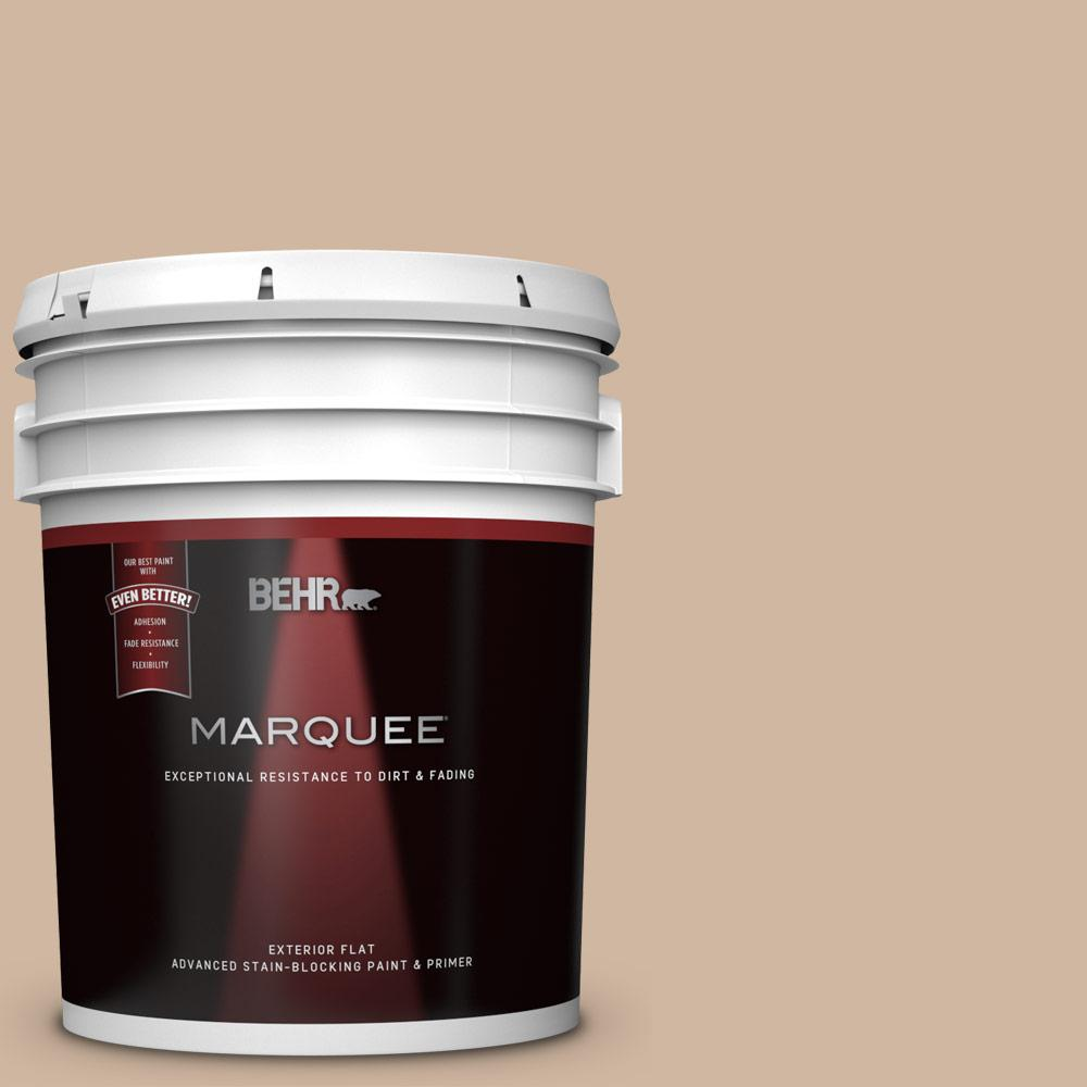 Behr Marquee 5 Gal N240 3 Sonoran Desert Flat Exterior Paint And Primer In One 445405 The Home Depot