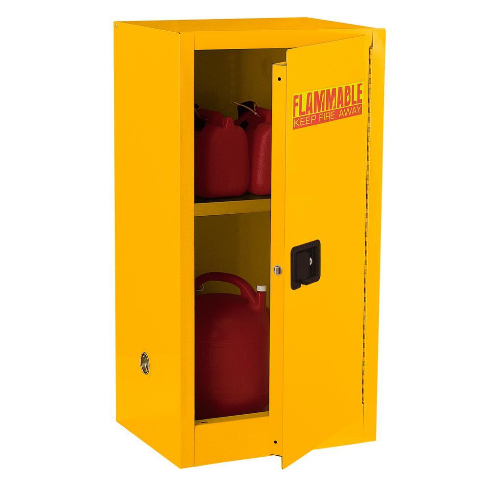 44 in. H x 23 in. W x 18 in. D Steel Freestanding Flammable Liquid Safety Single-Door Storage Cabinet in Yellow