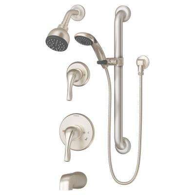 Origins Temptrol Single-Handle 1-Spray Tub and Shower Faucet in Satin Nickel (Valve Included)