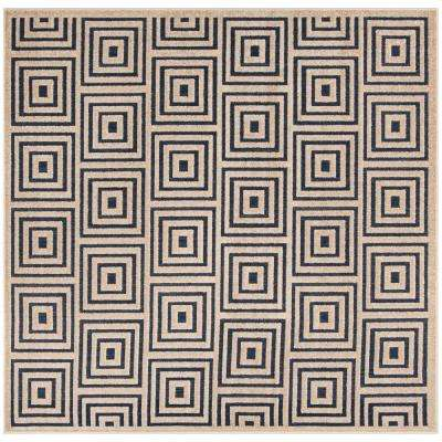 Cottage Navy/Cream 6 ft. 7 in. x 6 ft. 7 in. Indoor/Outdoor Square Area Rug