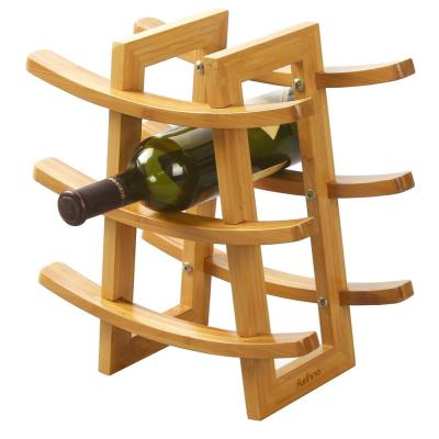 DaPur 9-Bottle Bamboo Wine Rack