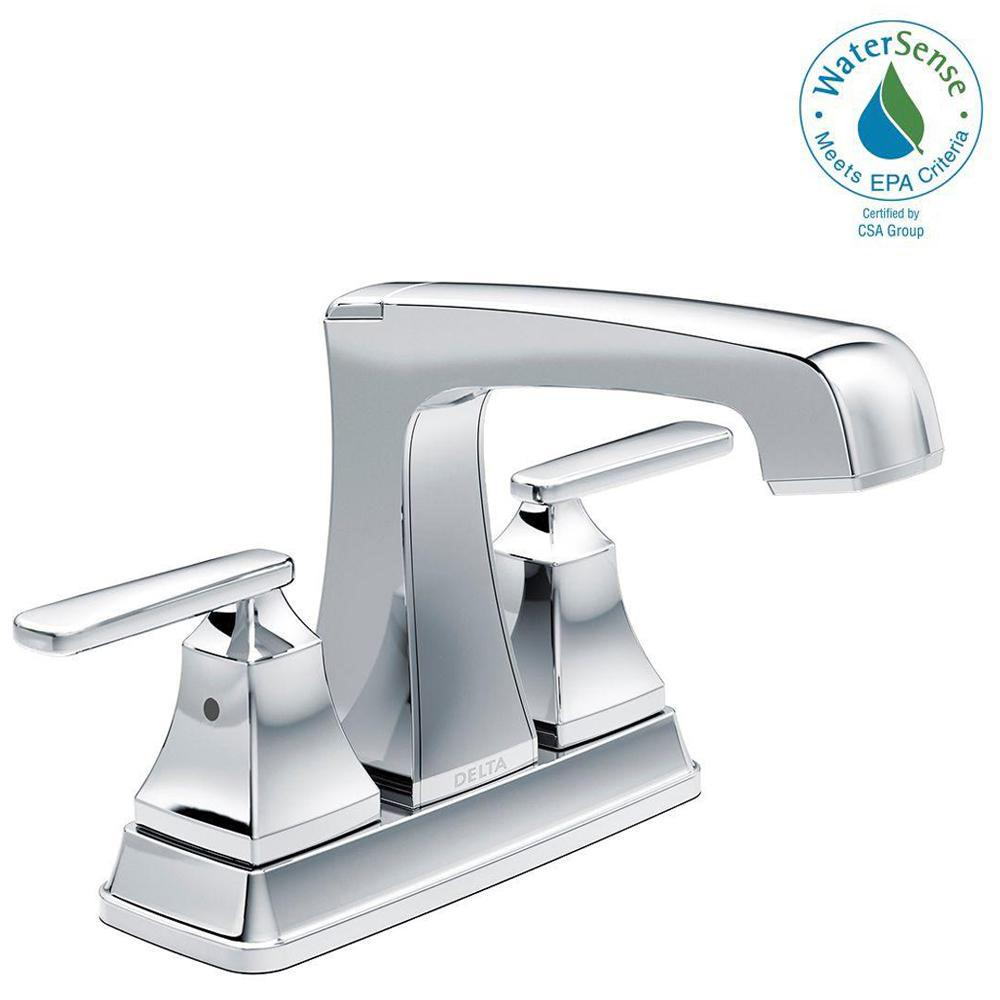 Ashlyn 4 in. Centerset 2-Handle Bathroom Faucet with Metal Drain Assembly