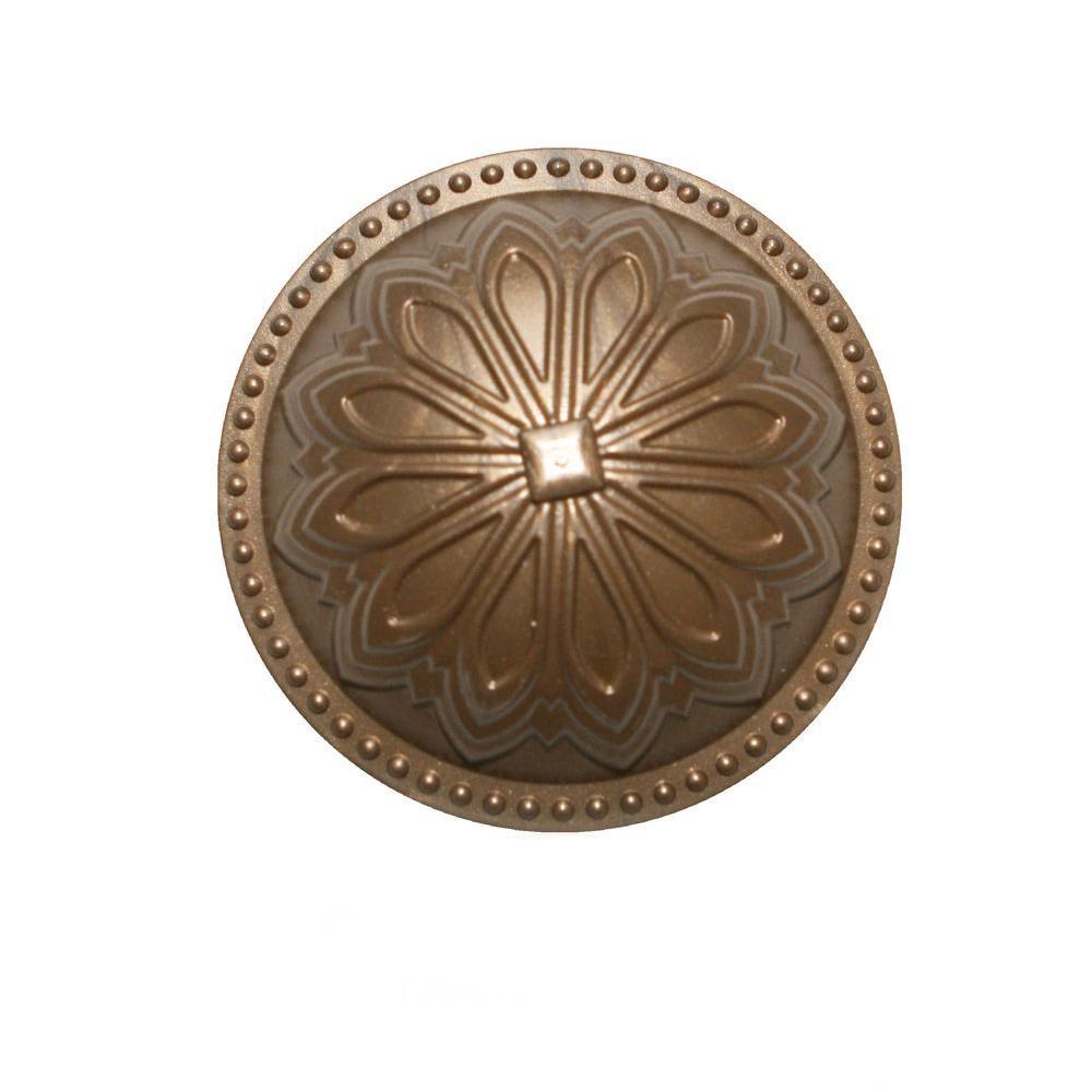 Hermosa Dome Beachnut Bronze 5.25 in. x 5.25 in. Cleanout Cover