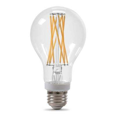 100-Equivalent A21 Dimmable Filament CEC Title 20 Compliant LED 90+ CRI Clear Glass Light Bulb, Soft White (24-Pack)