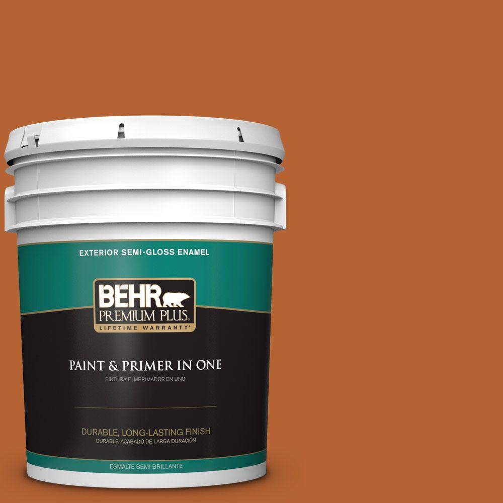 5-gal. #250D-7 Caramelized Orange Semi-Gloss Enamel Exterior Paint