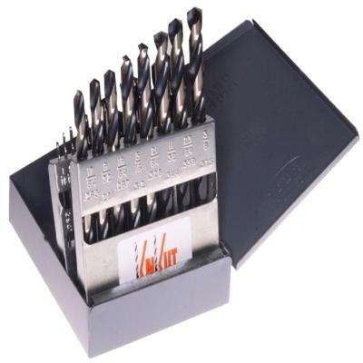 1/16 in. to 3/8 in. Jobber Length Drill Bit Set (21-Piece)