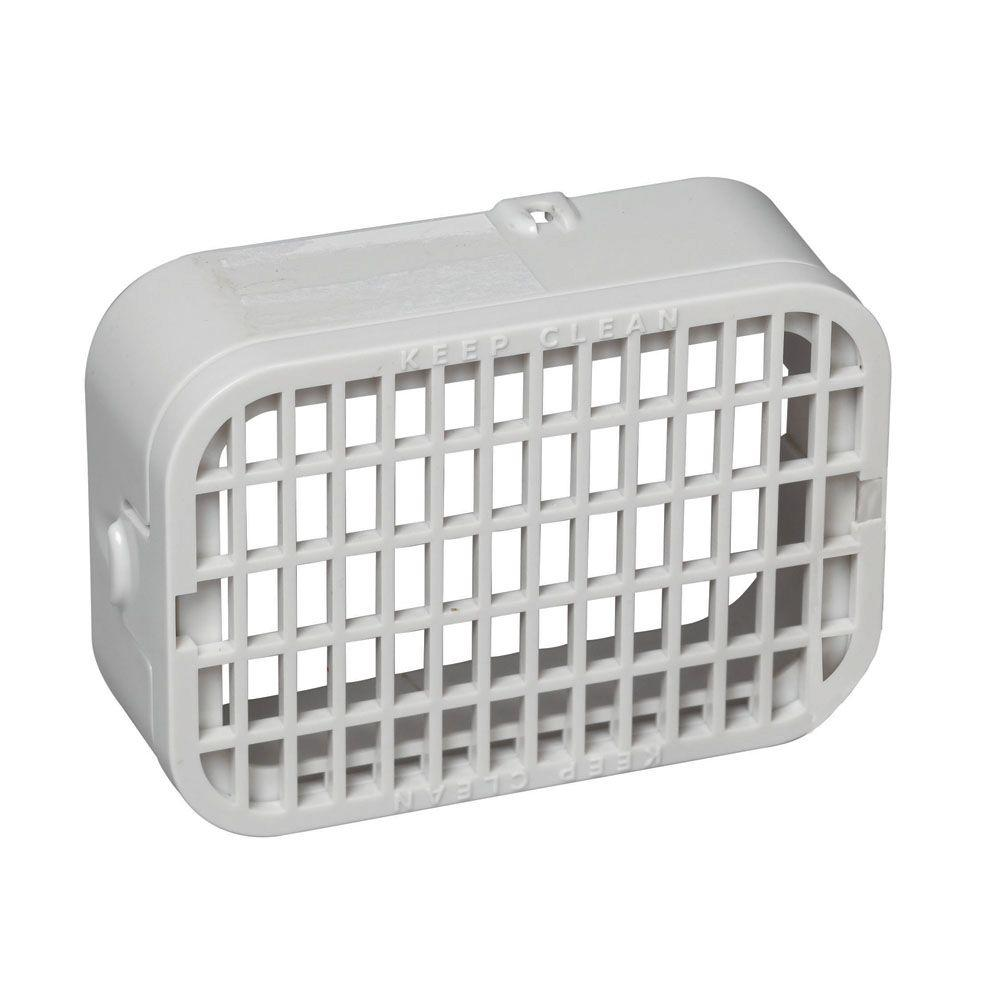 Amerimax Home Products 3 In X 4 In Plastic White Rodent Guard 37553 The Home Depot
