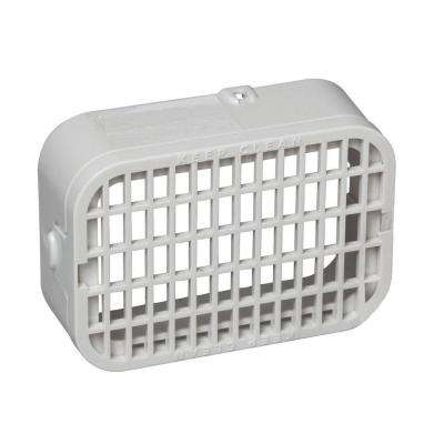 3 in. x 4 in. Plastic White Rodent Guard