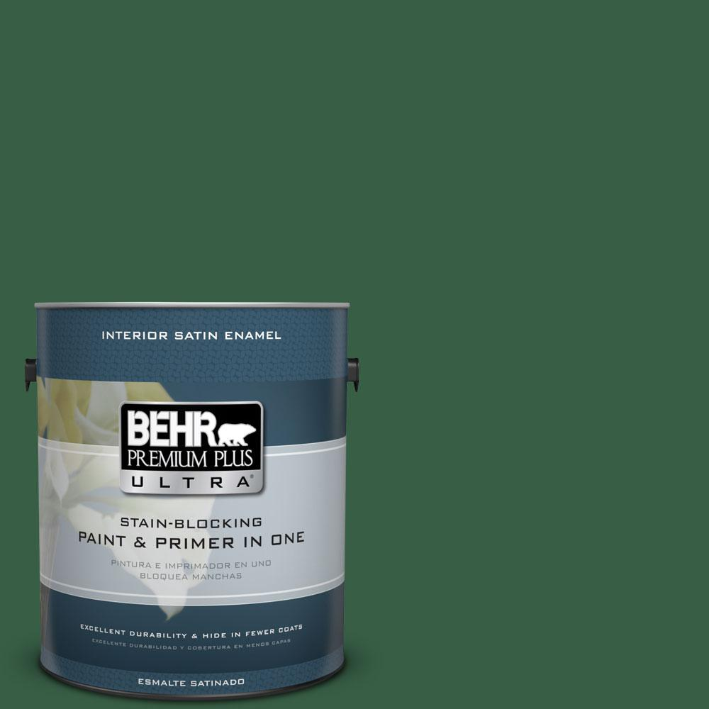 1 gal. #470D-7 Windy Pine Satin Enamel Interior Paint and Primer