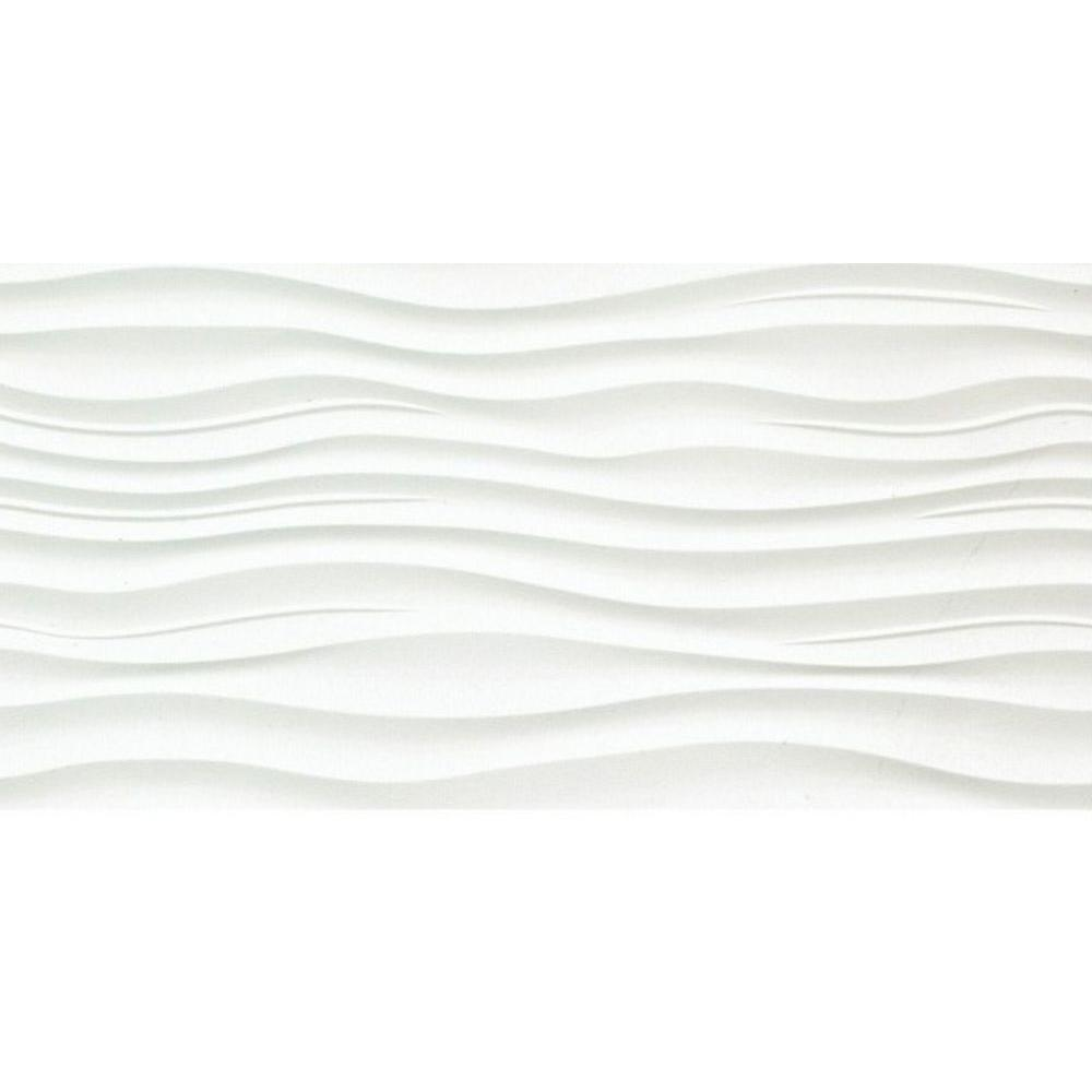 Surface Ripple Cream 12 In X 24 Porcelain Wall Tile 15 36 Sq