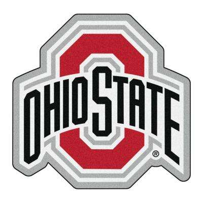 NCAA Ohio State University Gray 3 ft. x 4 ft. Specialty Area Rug