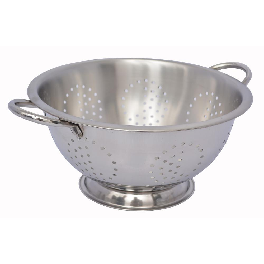 4 qt. Stainless Steel (Silver) Colander