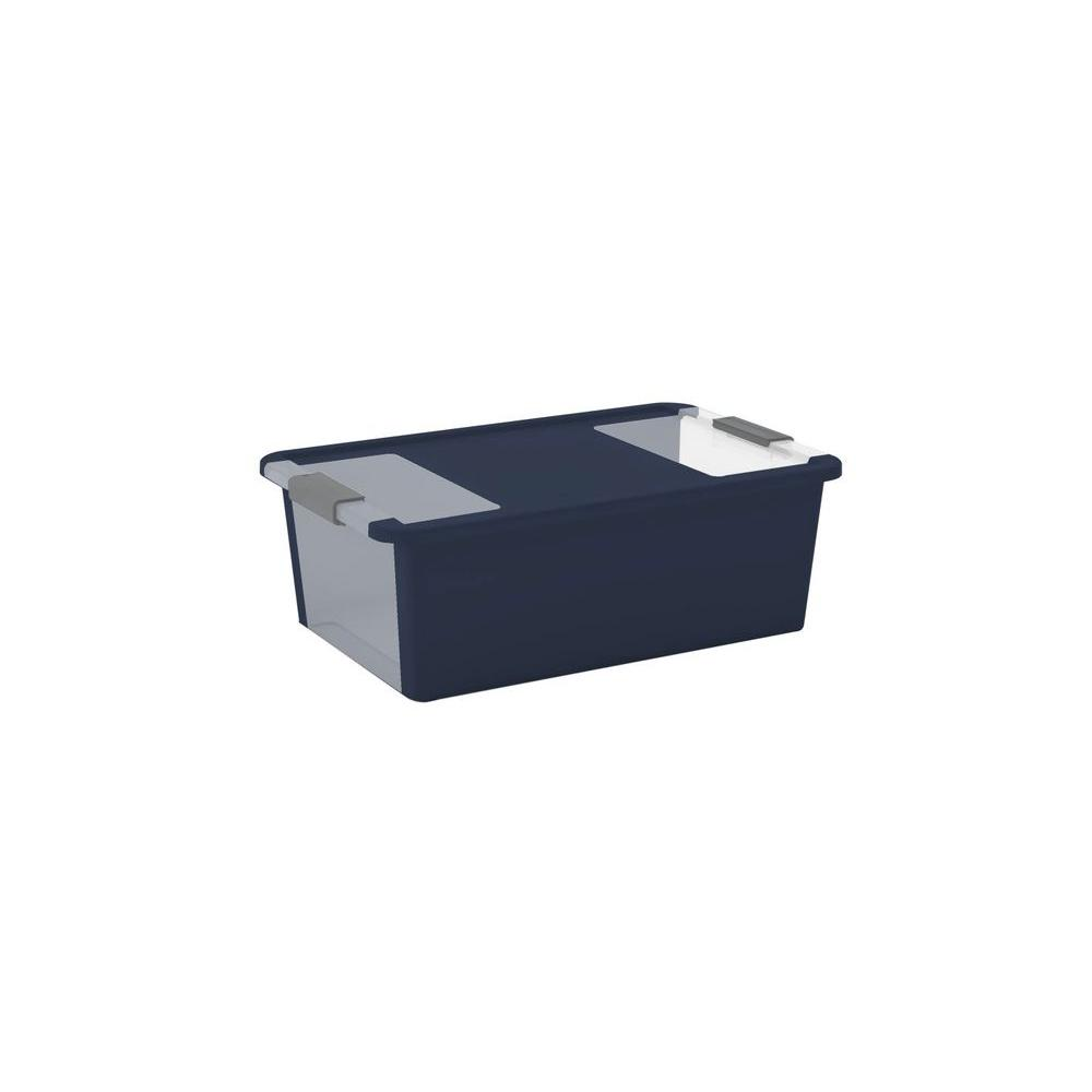 28.5 qt. Medium Latching Storage Tote in Midnight Blue