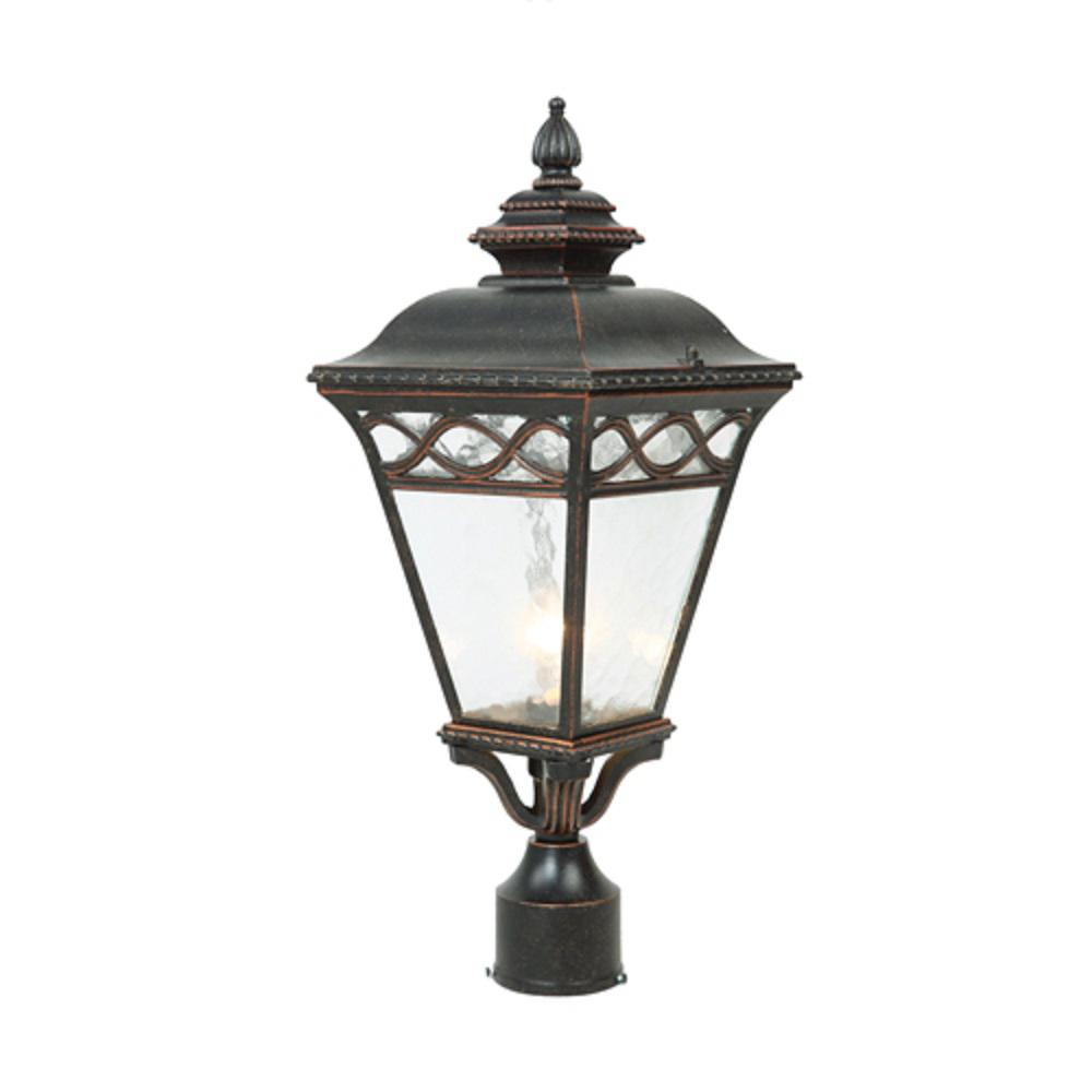 Outdoor Lamp Decoration: Y Decor Cheri 1-Light Outdoor Oil-Rubbed Bronze Post Light