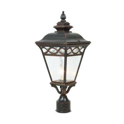 Cheri 1-Light Outdoor Oil-Rubbed Bronze Post Light