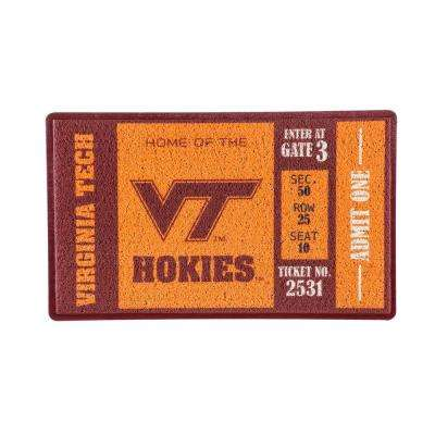 Virginia Tech 30 in. x 18 in. Vinyl Indoor/Outdoor Turf Floor Mat