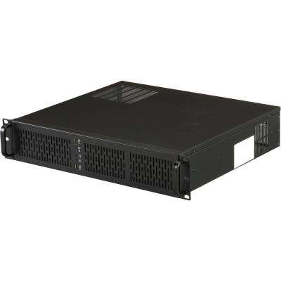2U Rackmount Server Case with 4 in. x 3.5 in. Internal Bays and 3 mm x 80 mm Cooling Fans Included