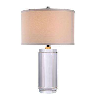 Regina 21.5 in. Chrome Crystal Table Lamp