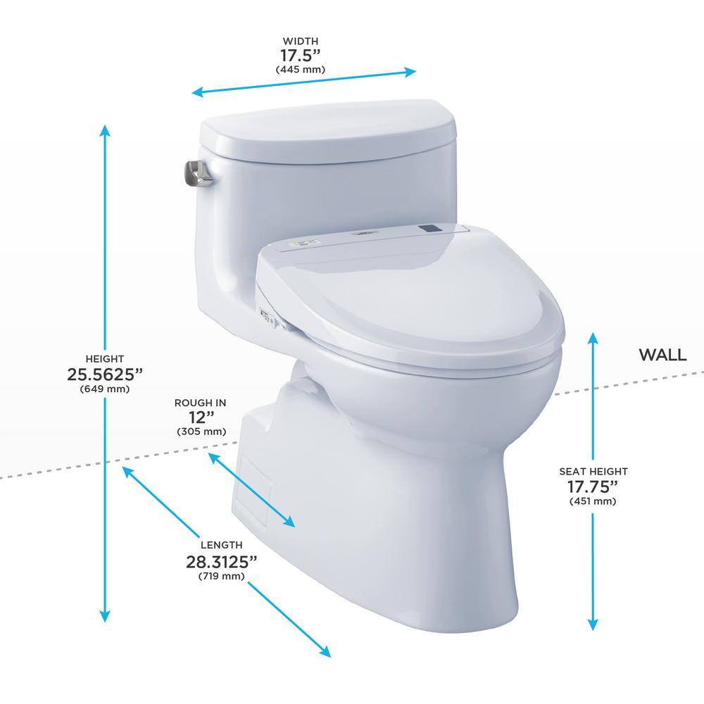 Astonishing Toto Carolina Ii Connect 1 Piece 1 28 Gpf Elongated Toilet With Washlet S350E Bidet And Cefiontect In Cotton White Creativecarmelina Interior Chair Design Creativecarmelinacom