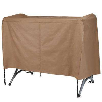 Essential 92 in. W x 62 in. D x 58 in. H Latte Canopy Swing Cover