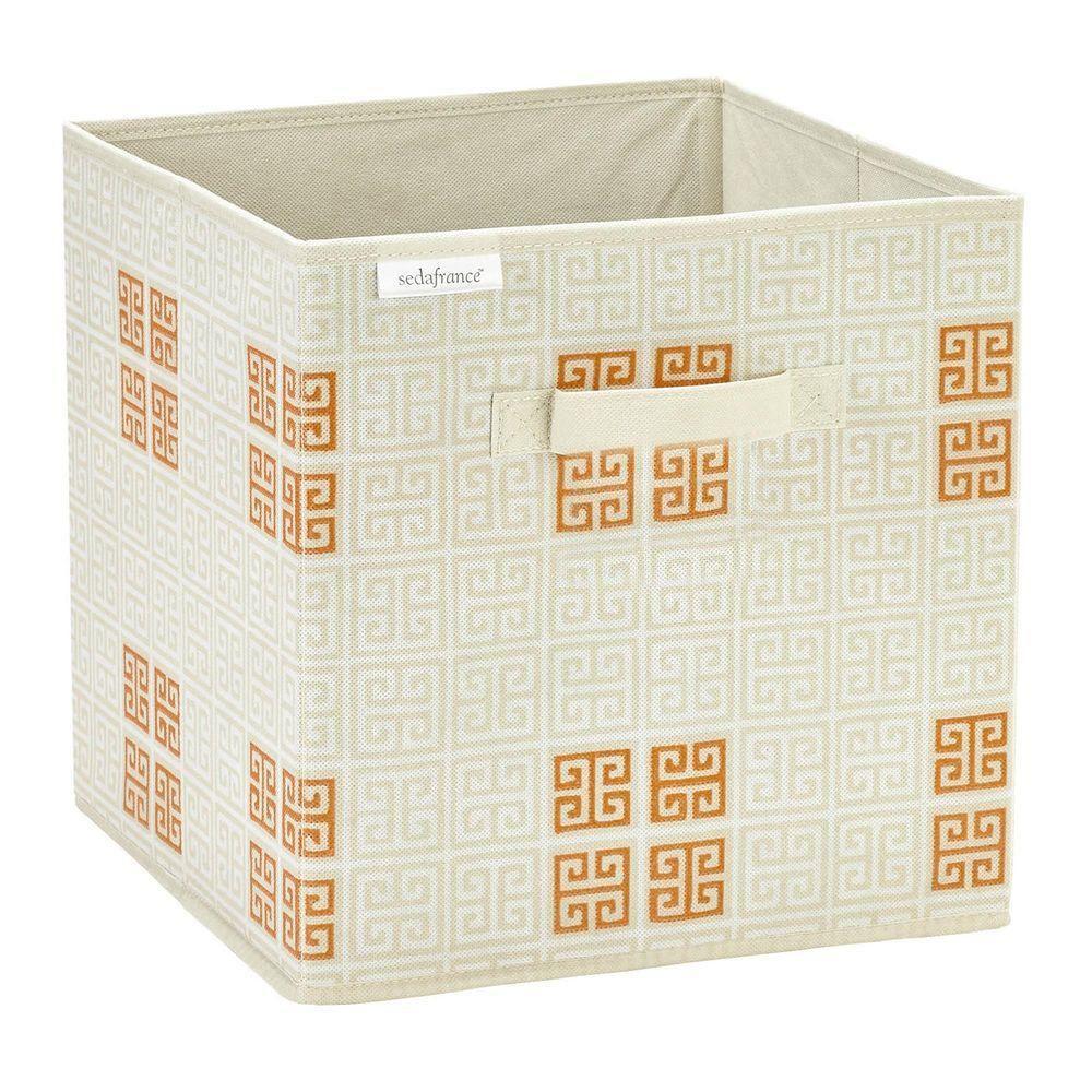 Polypropylene Storage Cube in Cameo Key Cream
