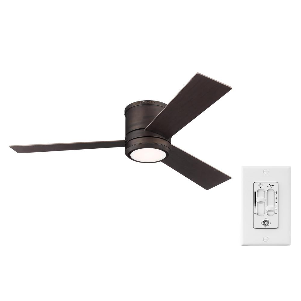 Monte Carlo Clarity Max 56 on. LED Indoor/Outdoor Roman Bronze Ceiling Fan with Light Kit