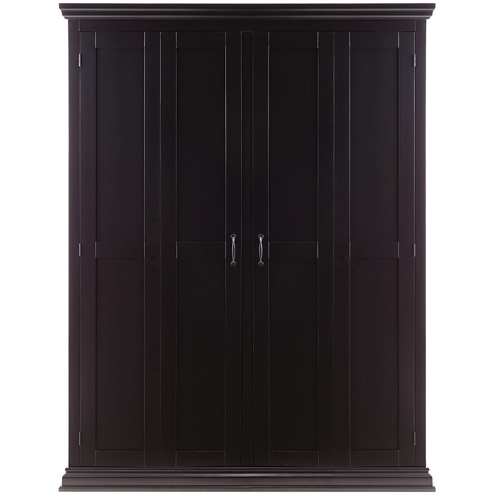 Deals on Home Decorators Sawyer Solid Black Hall Tree Storage Locker