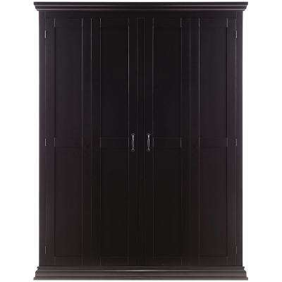 Sawyer Solid Black Hall Tree Storage Locker