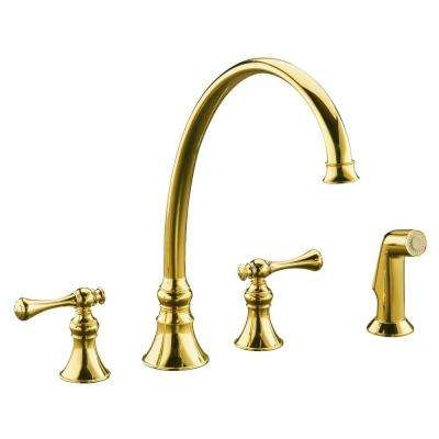 Revival 2 Handle Standard Kitchen Faucet In Vibrant Polished Brass