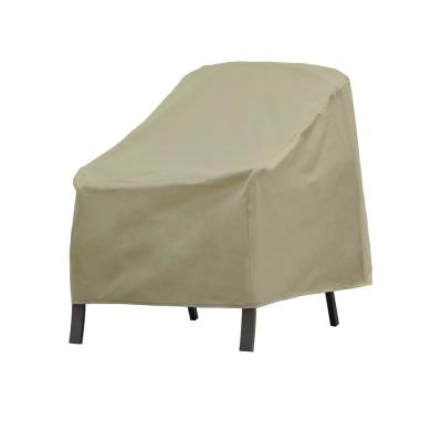 Basics Water Resistant Outdoor Patio Chair Cover, 27 in. W x 34 in. D x 31 in. H, Beige