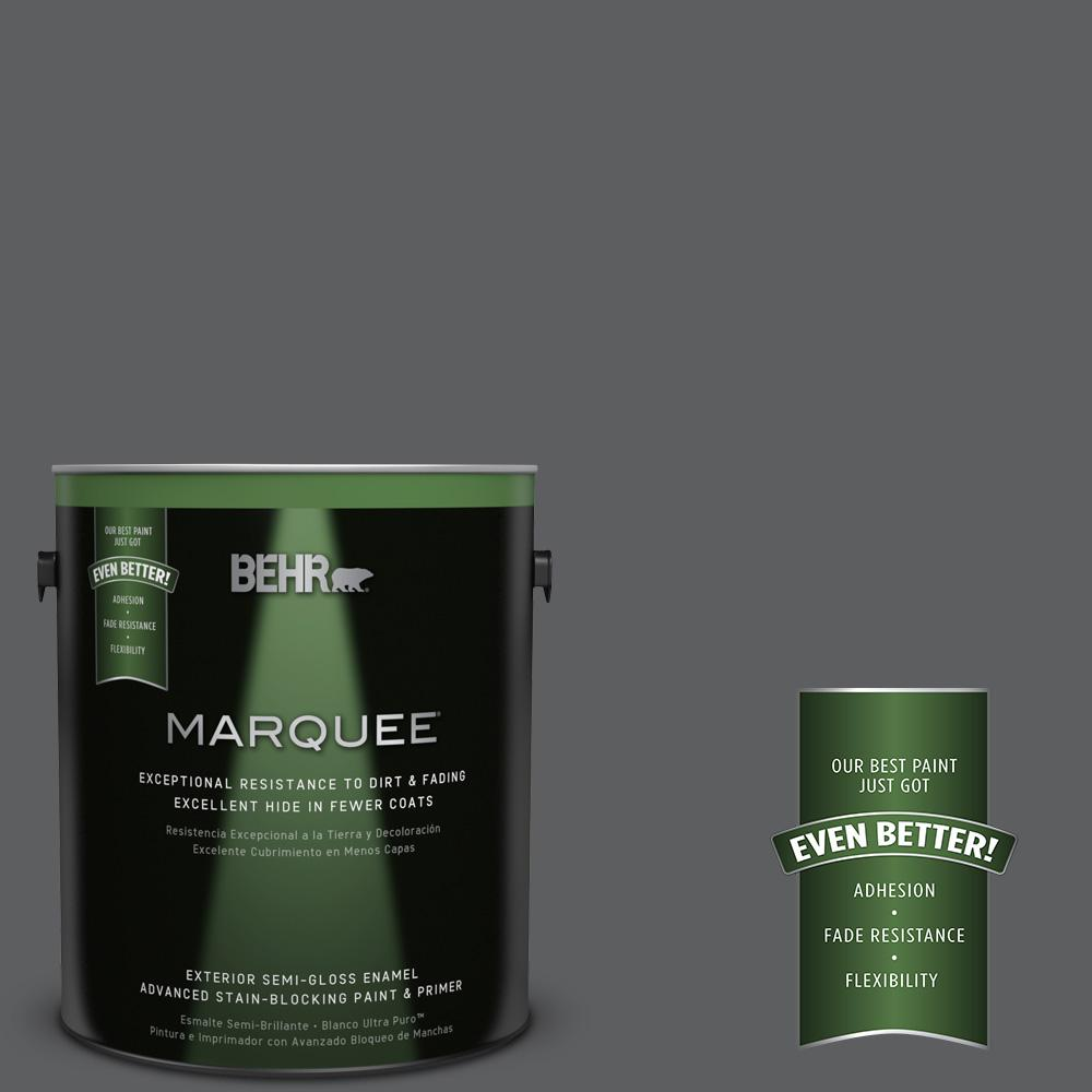 1-gal. #N500-6 Graphic Charcoal Semi-Gloss Enamel Exterior Paint