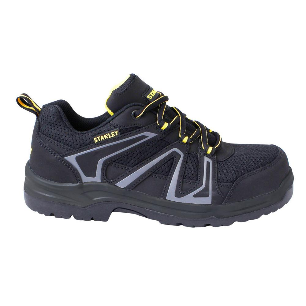 983bd7e5dfd Stanley Pro Lite Hiker Low Men's Size 10.5 Black Leather/Mesh Steel Toe  Work Shoe