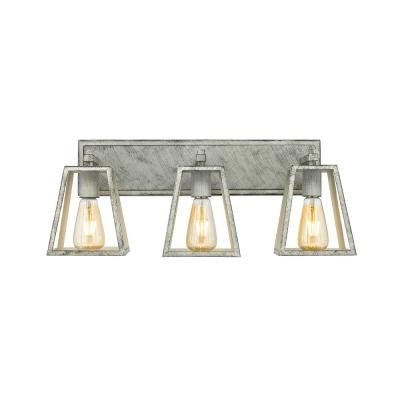 Agnes III 20.5 in. 3-Light Painted Wood Color Vanity Light