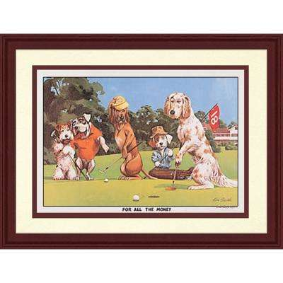 11.5.in x 20.5.in''Golfing Dogs II'' By PTM Images Framed Printed Wall Art